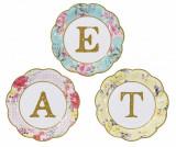Set 12 farfurii de unica folosinta Eat