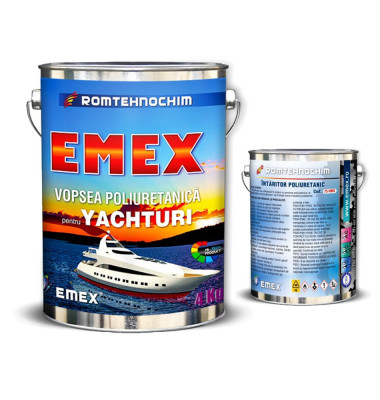 "Vopsea Poliuretanica pentru Yachturi ""EMEX"", Crem, Bidon 4 KG, Intaritor inclus foto"
