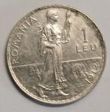 1 LEU 1912 . DETALII FRUMOASE ., Argint