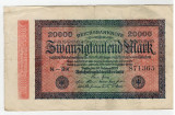 Bancnote Germania-20 000 marci 1923