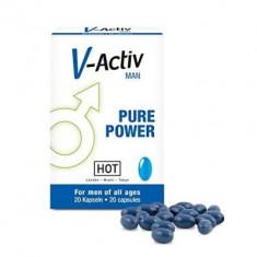 V-Activ for Men 20 Pastile Potenta, erectii puternice, intarziere ejaculare