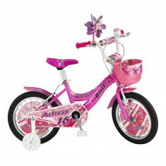 Bicicleta Copii Umit Actress , Culoare Roz, Roata 16', Cadru OtelPB Cod:1664000000