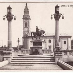 ORADEA-STATUIA REGELUI FERDINAND-CARTE POSTALA ANII 30