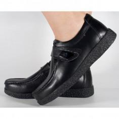 Pantofi negri piele naturala (cod 122099A)
