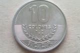 MONEDA 10 COLONES 2008-COSTA RICA (UNC), America Centrala si de Sud
