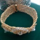 Brățară handmade-din sârma de cupru placată cu aur