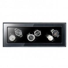 Cutie pentru intors ceasuri automatice iUni, Watch Winder 6 Carbon
