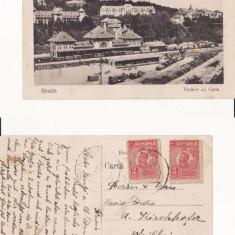 Sinaia  - Gara, tren, Circulata, Printata