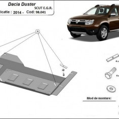 Scut metalic pentru EGR Dacia Duster Stop&Go II, III 2014-prezent