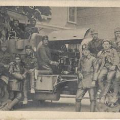 Tractor austro-ungar artilerie grea fotografie Primul Razboi Mondial