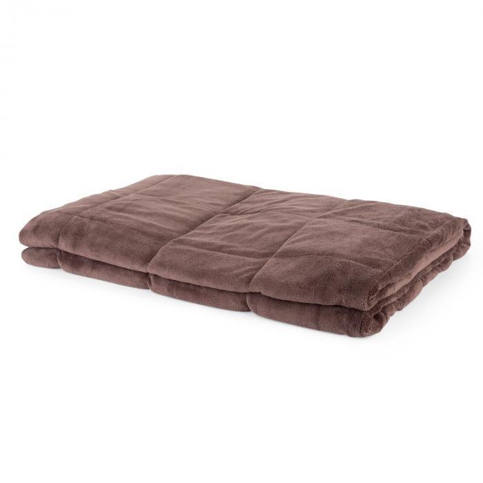 Besoa Cosycalm, pătură cu greutăți, micropluș, mărgele de nisip, 150 x 200 cm, 9 kg, maro