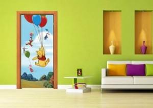 Fototapet Winnie the Pooh vertical 90x202cm