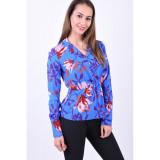 Cumpara ieftin Bluza Florala Pieces Rinna Flowers Albastru, L, M, S, XL, XS