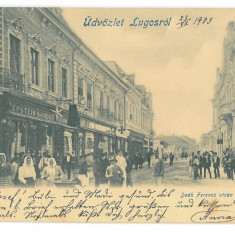 4356 - LUGOJ, Market, Clock, Ceas, Litho, Romania - old postcard - used - 1903