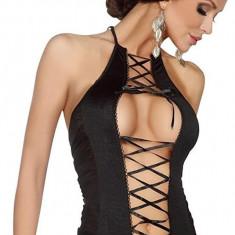 Body cu inseratii plasa dama, negru, marime unica (S-L)