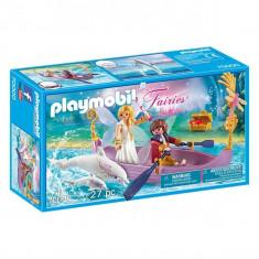 Playmobil Fairies - Barcuta Zanelor cu cuplu romantic