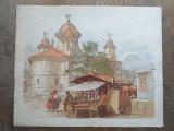 Preziosi- Bucurestii in 1869, cromolito, format: 30*24 cm