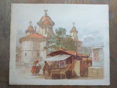 Preziosi- Bucurestii in 1869, cromolito, format: 30*24 cm foto