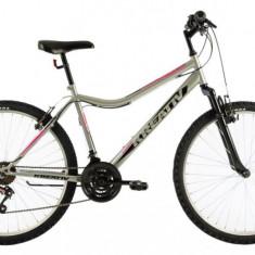 Bicicleta Dama Kreativ 2604 457mm Gri Deschis 26