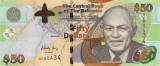 BAHAMAS █ bancnota █ 50 Dollars █ 2006 █ P-75 █ UNC █ necirculata