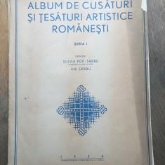 Album cusaturi tesaturi artistice romanesti 4 planse 1936 Olivia Pop - populare