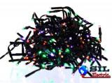 Ghirlanda luminoasa decorativa cu LED multicolor cablu negru WELL