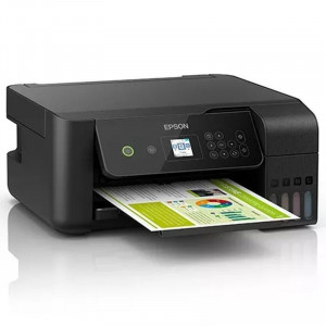 Multifunctionala inkjet Epson EcoTank L3160, CISS integrat, Wi-Fi, format A4, LCD