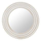 Oglinda de perete Antique, rama melamina, alb/auriu, dimensiuni 76x4 cm