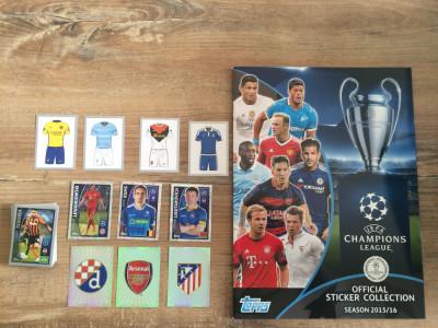 Topps Champions League 2015-16 Album gol + 74 stickere nelipite foto