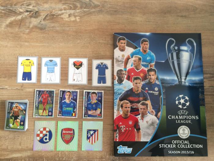 Topps Champions League 2015-16 Album gol + 74 stickere nelipite