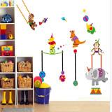 Autocolant de perete copii Animalute la circ