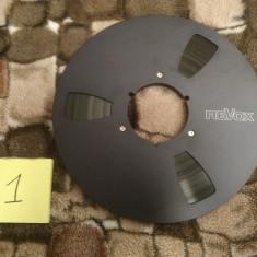 1. Banda Magnetofon REVOX rola metalica 26cm-Black (Akai,Teac,Tascam,Agfa,BASF)