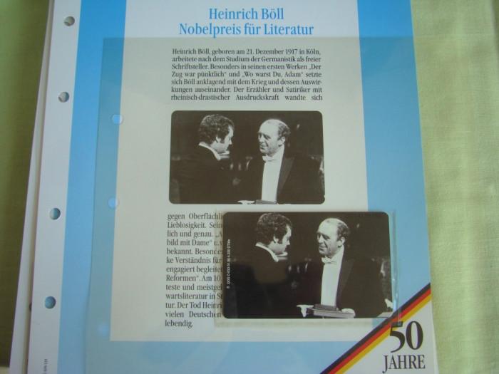 """3 Cartele Telefonice """"50 Jahre Deutschland"""" - Exponate NOI / 18"""