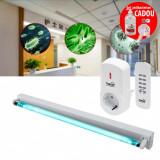 Cumpara ieftin Lampa bactericida UVC 40 W cu ozon, sterilizare suprafata 40 mp, control telecomanda, fixare perete