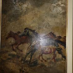 Tablou original Janos viski, Abstract, Ulei, Art Nouveau