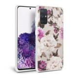 Husa Samsung Galaxy A51 TechProtect Floral Case Bej