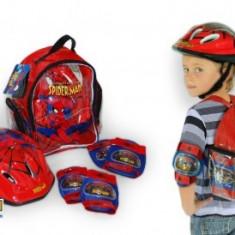 Set protectii copii bicicleta trotineta role Saica Spiderman