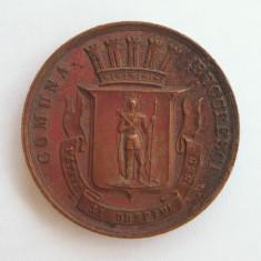 Medalie 1893 marturie botez Carol II Principe Comuna Bucuresci