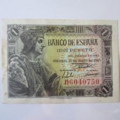Rara! Spania 1 Peseta 1943