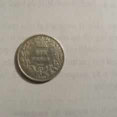 CY - 6 pence 1859 Marea Britanie