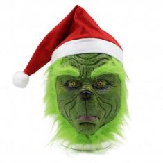 Masca latex The Grinch spirit furat Craciun Halloween Comicon +CADOU!