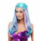 Peruca Sirena Albastra Cu Perle - Carnaval24
