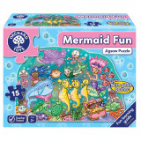 Puzzle de podea Distractia Sirenelor 15 piese, orchard toys
