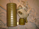 Masca de gaze folosita de armata romana/WW2/Colectie/Decor/Razboi/Vintage