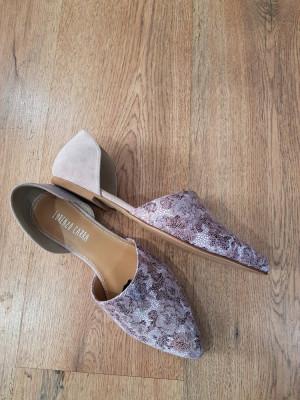 LICHIDARE STOC! Superbi pantofi-balerini dama noi piele naturala comozi 38 foto