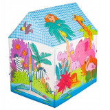 Cort de Joaca pentru Copii IPlay, Casuta Zoo, Animal Print, 95x72x102 cm