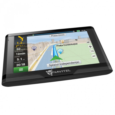 """Sistem de navigatie GPS Navitel E500, ecran 5"""" harti FULL EU cu actualizare lifetime pentru 47 harti offline si suport de fixare magnetic foto"""