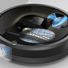 Robot de aspirare iRobot Roomba 676, Antiangle, Wall Follow, Program SPOT, Argintiu/Negru