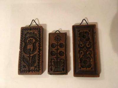 3 tablouri miniatura, de ceara, motiv etno, etnic, deosebite, 9x4cm si 7.5x3.5cm foto
