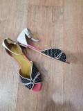LICHIDARE STOC! Superbe sandale dama noi piele naturala fina+ tesut comode 37